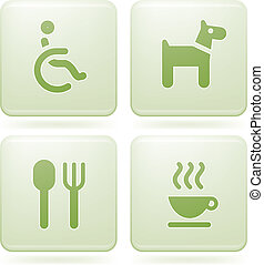 Olivine 2D Squared Set: Camping - Various camping icons:...