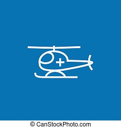 Air ambulance line icon. - Air ambulance thick line icon...