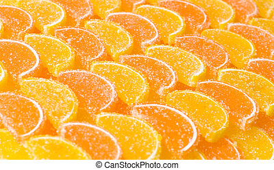 Lemon segments - marmalade, segments, background, candied,...