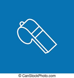 Whistle line icon - Whistle thick line icon with pointed...