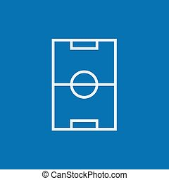 Stadium layout line icon - Stadium layout thick line icon...
