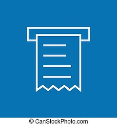 Receipt line icon - Receipt thick line icon with pointed...