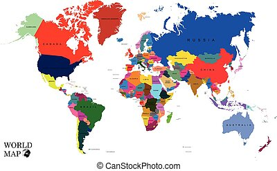World map - countries - World map