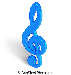 Blue treble clef  - Blue treble clef