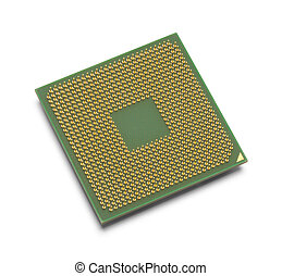 Microprocessor - Green and Gold Microprocessor with Copy...