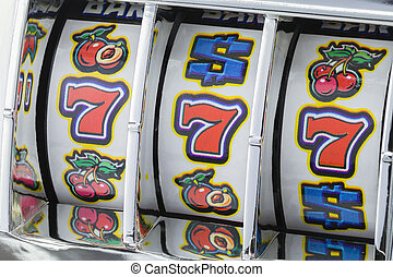 Slot Machine Sevens - Winning Jackpot with Slot Mahine on...