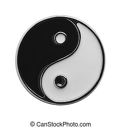 Yin Yang - Black and White Yin Yang Symbol Isolated on White...
