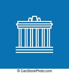 Acropolis of Athens line icon - Acropolis of Athens thick...