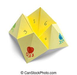 Paper Fortune Teller - Origami Folded Paper Fortune Teller...