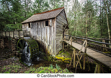 Historical Grist Mill - Historical grist mill in the Great...