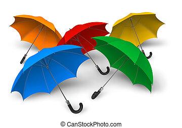 Color umbrellas  - Color umbrellas
