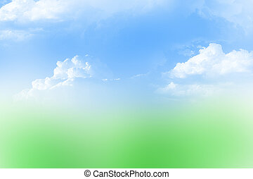 Sky and grass abstract background
