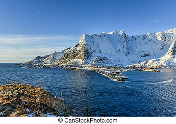 Reine, Lofoten Islands, Norway - Winter in Olenilsoya in...