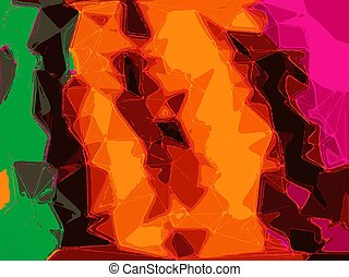 orange yellow green pink abstract