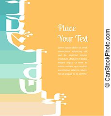 abstract greeting card for jewish holiday Passover. happy...
