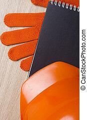 Industrial orange helmet