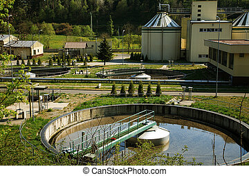 Waste water treatment - Waste Water Treatment ponds - sewage