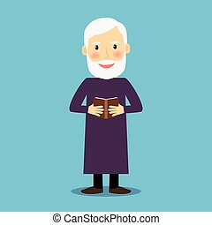 Evangelist old man with book - Evangelist. Old man with book...