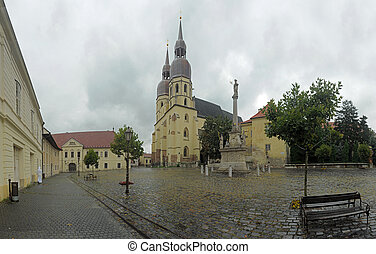 Saint Nicolas\\\' square with Saint Nicolas\\\' church...