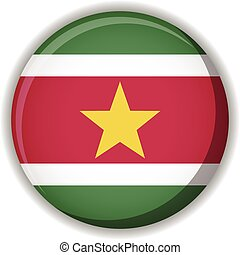 Suriname flag vector button - Vector illustration of a...