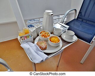 Cruise ship balcony meal