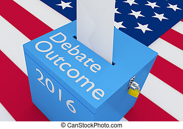 Debate Outcome 2016 Concept - 3D illustration of Debate...