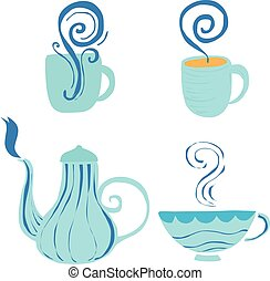 Decoration of hot drink container vector art