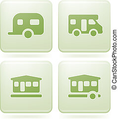 Olivine 2D Squared Set: Camping - Various camping icons: Gym...