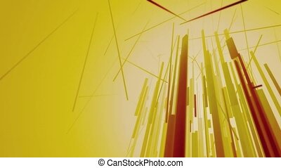Abstract Lines Reaching Up - An misty, surreal, geometric...