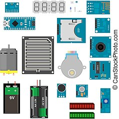 Arduino electronic elements - Electronic components for...