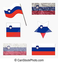 Set with Flags of Slovenia
