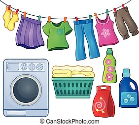 Laundry theme image  - Laundry theme image