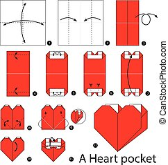 origami A Heart pocket.