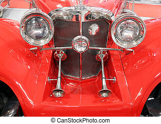 oldtimer car horns front view