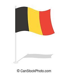 Flag of Belgium. Official national symbol of Belgian state. Traditional Belgian paced flag. Belgium flag isolated