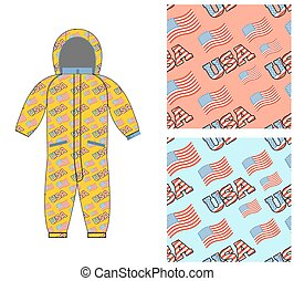 Patriotic childrens clothing. Childrens clothing template....