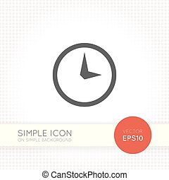 Clock icon. Universal vector eps element for user interface....