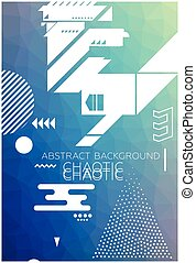 Chaotic Abstract Background - Modern universal chaotic...