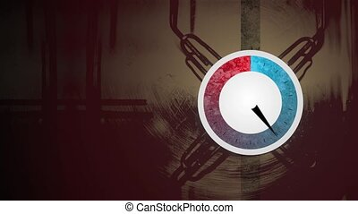 Pressure dial rising and falling - Animation depicting a...