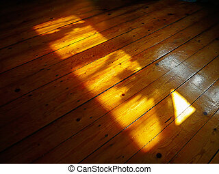 Sun Rays - Sun rays on wooden floor