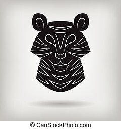 Stylized silhouette of a tiger.