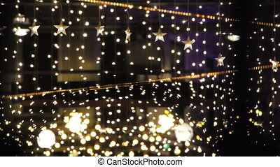 Decorated Night Club. - Night Club decorated with lights and...