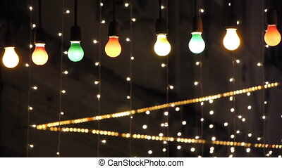 Decorated Night Club - Night Club decorated with lights and...
