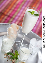 Delicious lychee lassi - Lassi made with lychee, yogurt, ice...