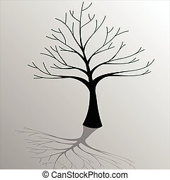 Tree-Ecology - Illustration of silhouettes of tree as a...