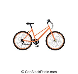 Bicycle Design Flat Isolated - Bicycle icon design flat...