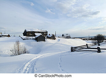 Russian village Pinega District Arhangelsk region Russia