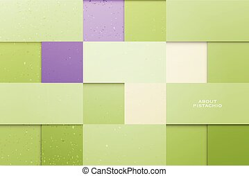 about pistachio - abstract, green background with square...