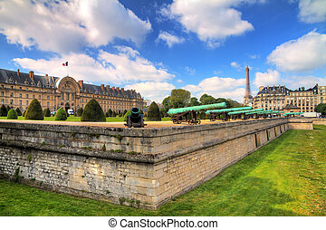 Invalides moat cannons - Beautiful spring view of Invalides...