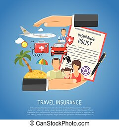 Travel Insurance Concept for Poster, Web Site, Advertising...